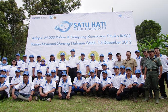 大塚製薬の現地系列会社との協働による環境保全活動。 「Otsuka環境保全モデル村」事業として、工場周辺の地域住民による植林と林産物を利用した収入向上活動を実施中