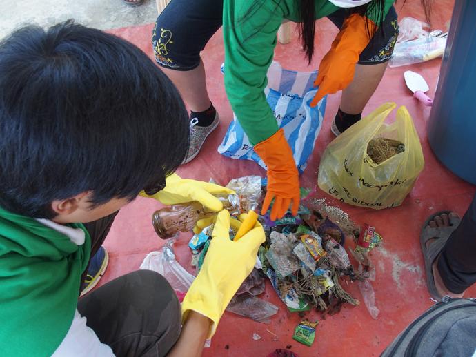 ゴミの分別と分析