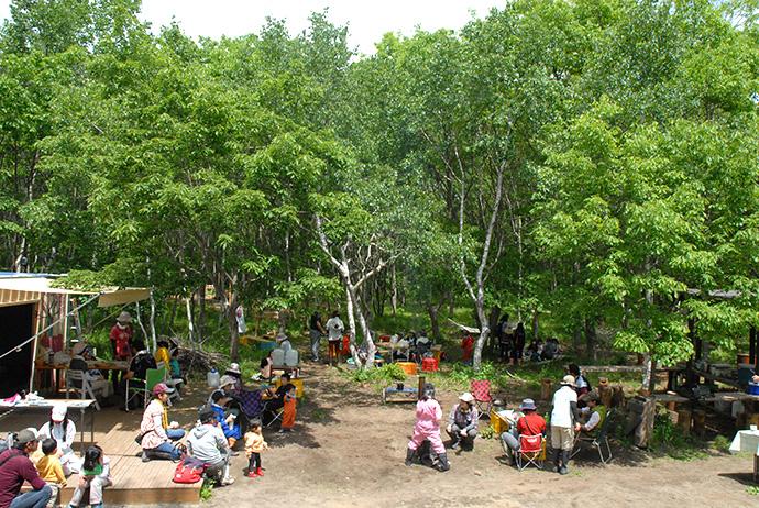 いぶり自然学校:森の公民館活動・木育広場