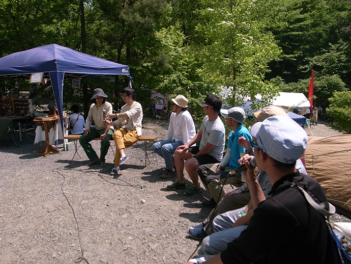 山梨県道志村で行われた「Natural Hight!」トークセッション風景