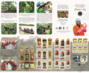 Brochure of natural honey products